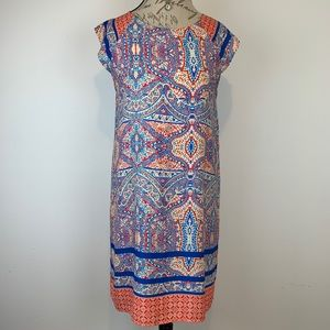Everly Anthropologie Shift Paisley Dress Sz L